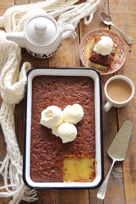 עוגת פודינג מלבה